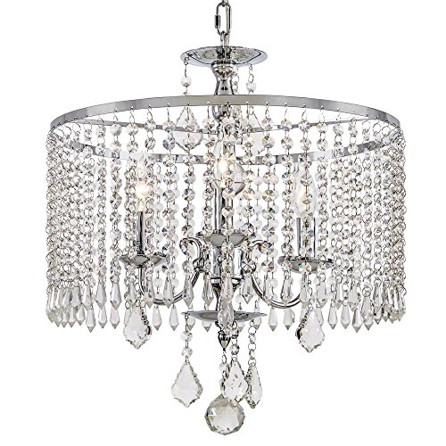 Home Decorators Collection 3 Light Polished Chrome Chandelier with K9 Crystal Dangles Model 1001789669