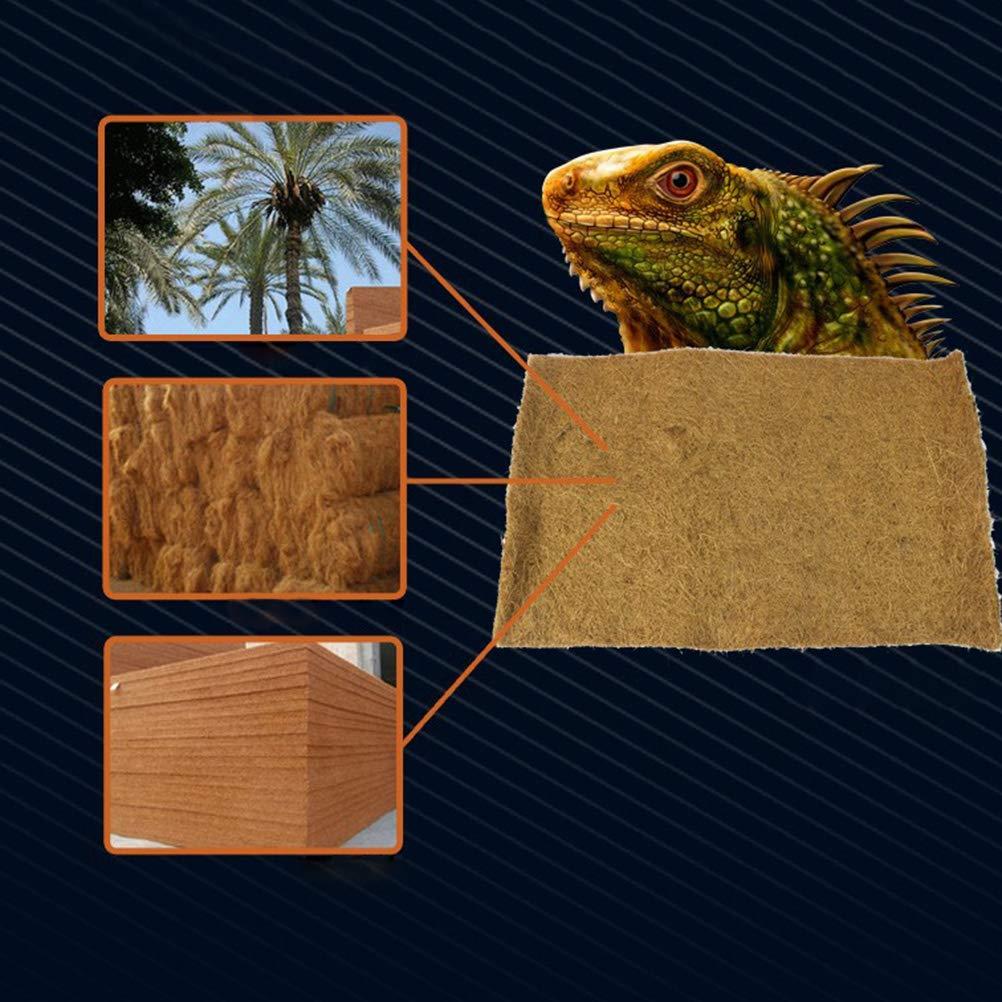 POPETPOP 3 UNIDS Estera de Reptil Jaula Alfombra de Fibra de Coco ...