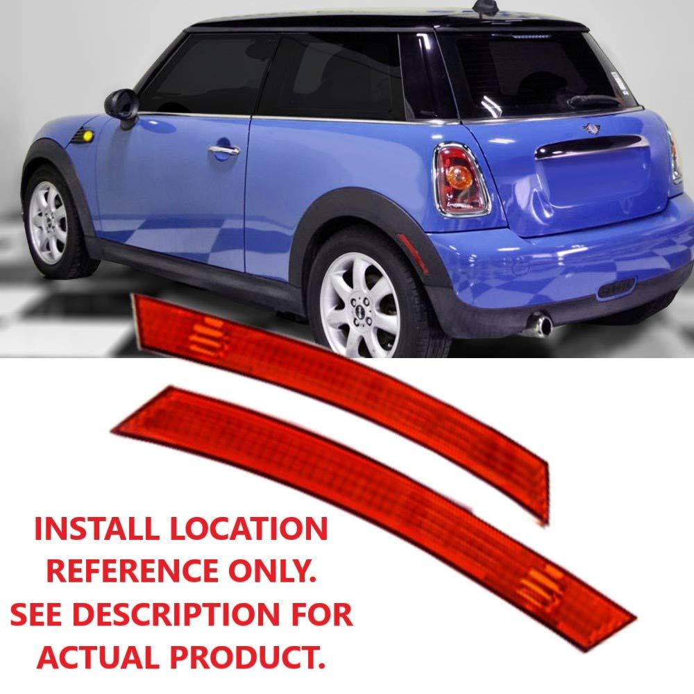 TopPick 63147165871-63147165872-R Sidemarker Lights FOR Mini Cooper Hatchback Convertible R50 R52 R53 2002-2006 2005-2008 Red//Black Side Bumper Marker Fender Lights
