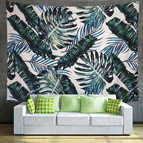 Maccyafst Palm Leaf Tapestry Tropical Leaves Tapestry Banana Leaf Tapestry Green Plant Leaf Tapestry Wall Hanging for Bedroom Dorm Decor (59.1