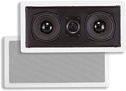 Monoprice Aramid Fiber in-Wall Center Channel Speaker - Dual 10.210 Inch  (Single) with Titanium Tweeters - Caliber Series