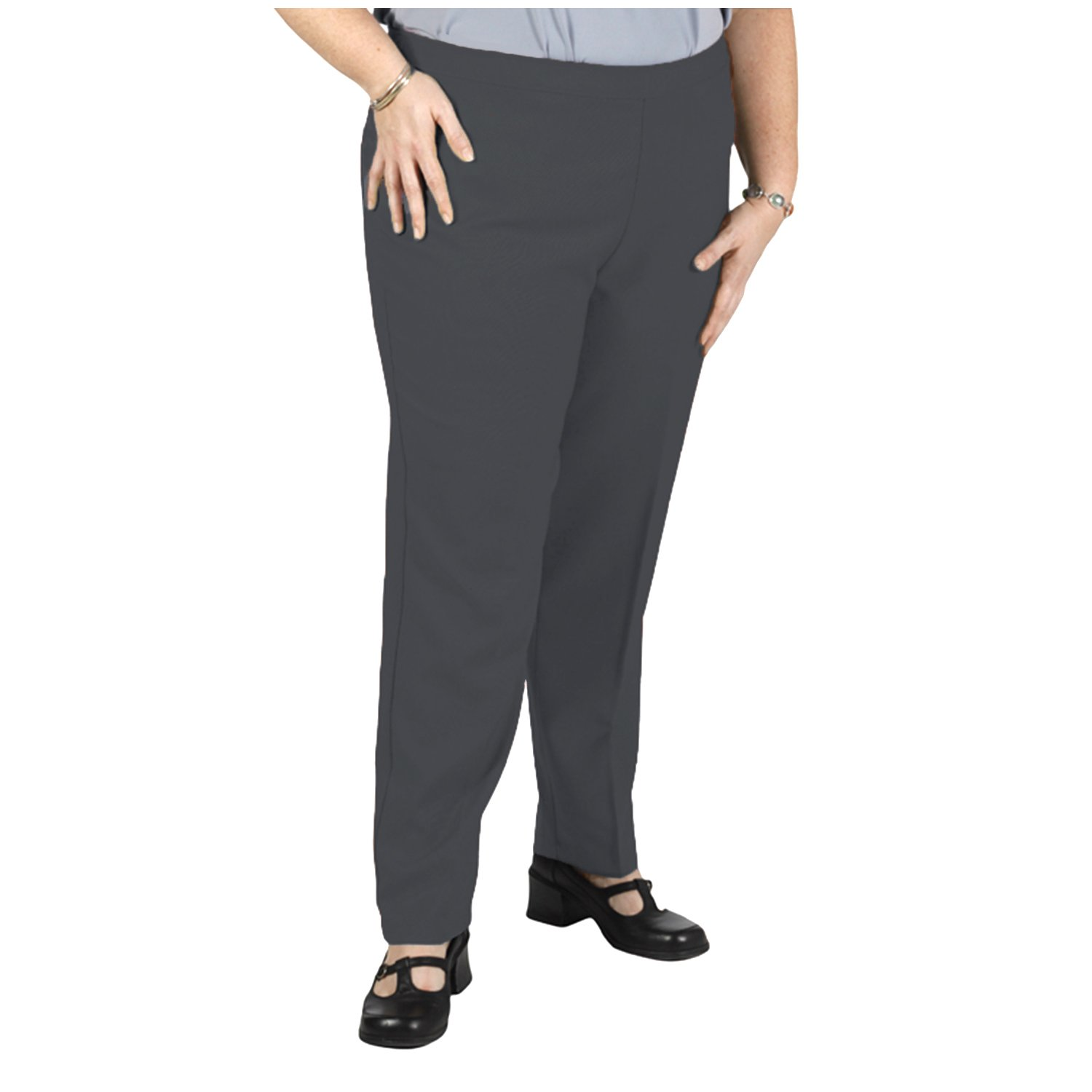 e74f8270486 Bend Over Women s Plus Size Elastic Waist Pull-On Pants at Amazon Women s  Clothing store