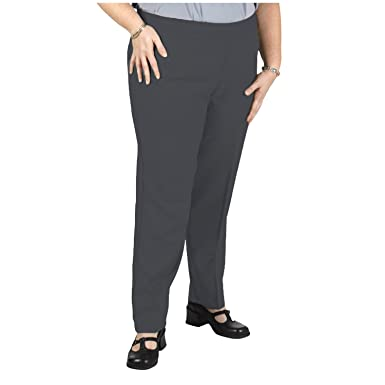97d43d86f5b Bend Over Women s Plus Size Elastic Waist Pull-On Pants at Amazon Women s  Clothing store