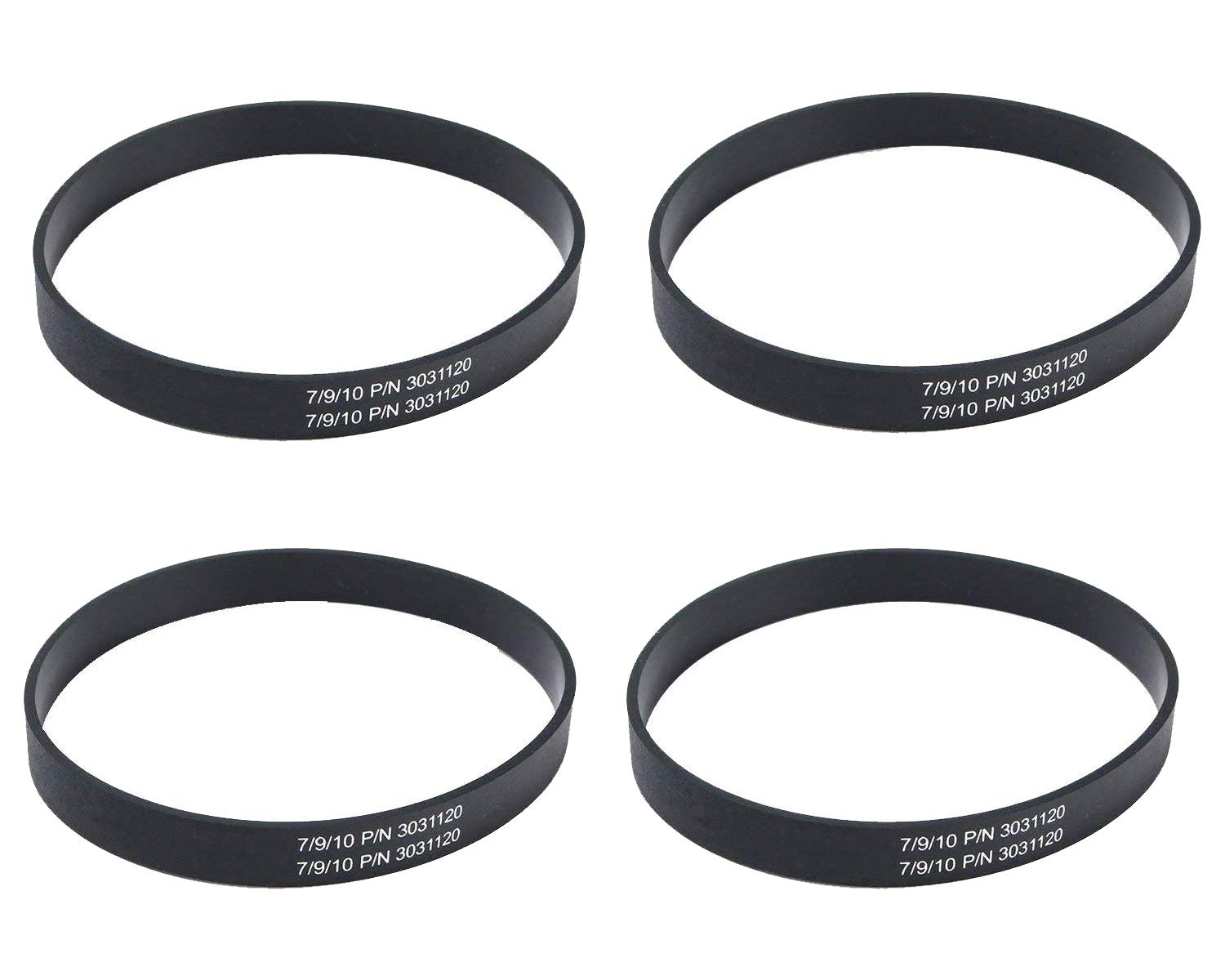 Poweka 3031120 Belts Fits for Bissell Style 7/9/10 12/14/16 p/n 3031120 Vacuum Belt (4 Packs) - Replace Part Number 32074 203-1093