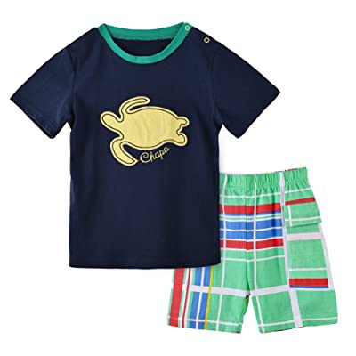 2pcs Boys' Clothing Short Sets Cute Cartoon Outfits Summer