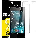 2 Pack Verre Trempé Nokia Microsoft Lumia 550, NEWC® Film Protection en Verre trempé écran Protecteur vitre - ANTI RAYURES SANS BULLES D'AIR Ultra Résistant Dureté 9H pour Nokia Lumia 550