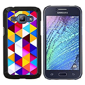 Jordan Colourful Shop - Polygon Pattern Uplifting Blue Clean For Samsung Galaxy J1 J100 J100H Personalizado negro cubierta de la caja de pl????stico
