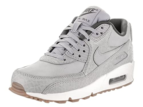 huge discount 85408 50975 NIKE Wmns Air Max 90 Premium Women s Sneaker gray 443817 011, Size 40.5