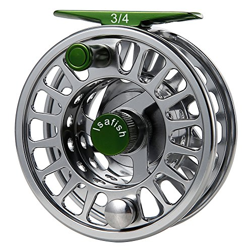 Isafish Fly Reel Large Arbor CNC Aluminum Alloy Body with Stainless Steel Ball Bearings Fishing Reels 3/4, 5/6, 7/8 Weights for Saltwater Freshwater