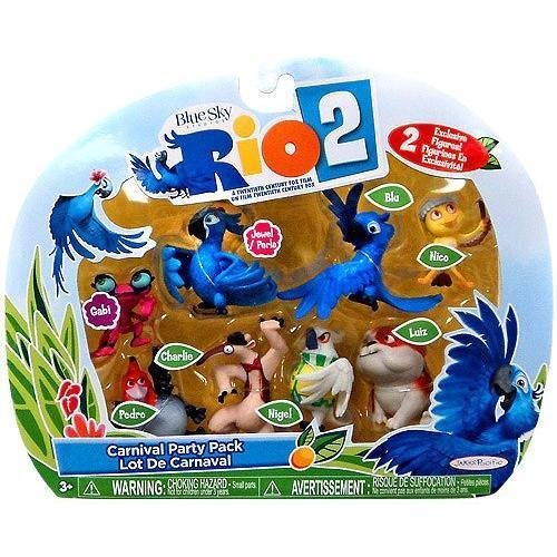 Rio 2 Movie Carnival Party Pack Mini Figures Set - Stores Rio Del