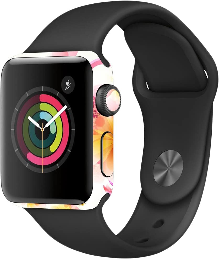 MightySkins Skin Compatible with Apple Watch Series 2 38mm - Pollinate   Protective, Durable, and Unique Vinyl Decal wrap Cover   Easy to Apply, Remove, and Change Styles   Made in The USA