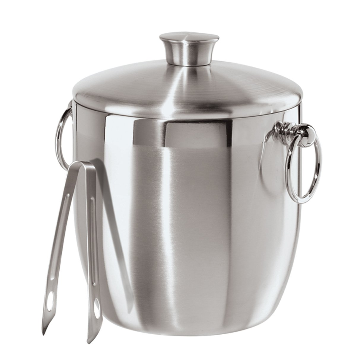 Oggi Stainless Steel Ice Bucket with Tongs, 3 L by Oggi