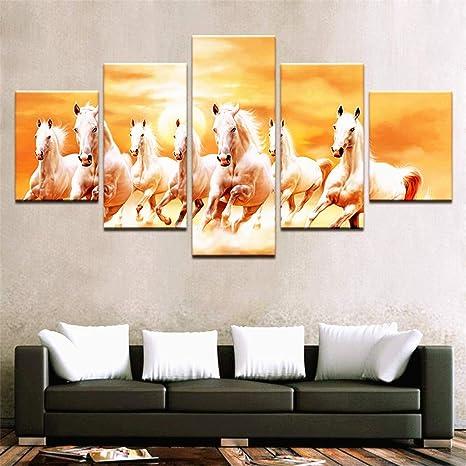 XDXART 5 piezas de cuadros de decoración del hogar impreso pintura en lienzo, arte de