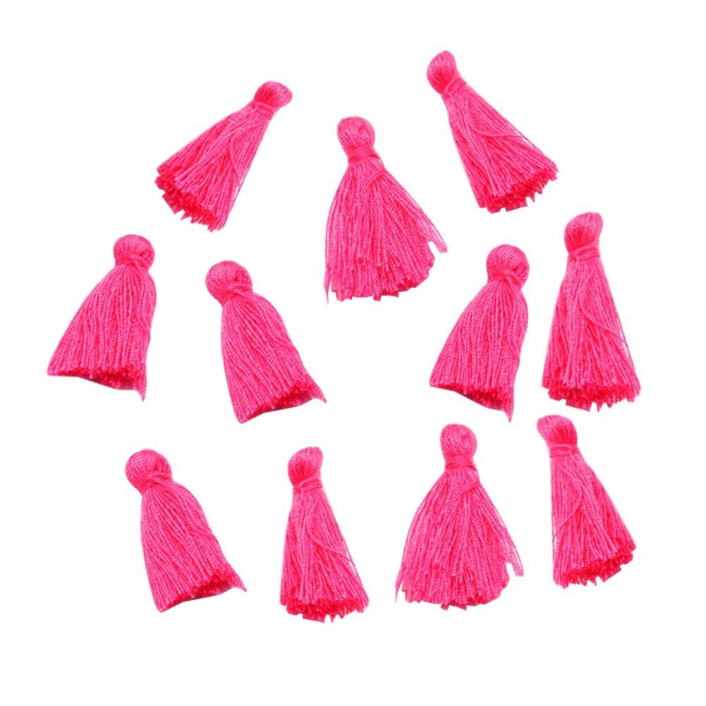 NBEADS 1/bag 39/~ 47PCS//25/~ 31/x 5/mm colore misto cotone artigianale nappe pendente per fai da te bracciale orecchini rendendo Coral