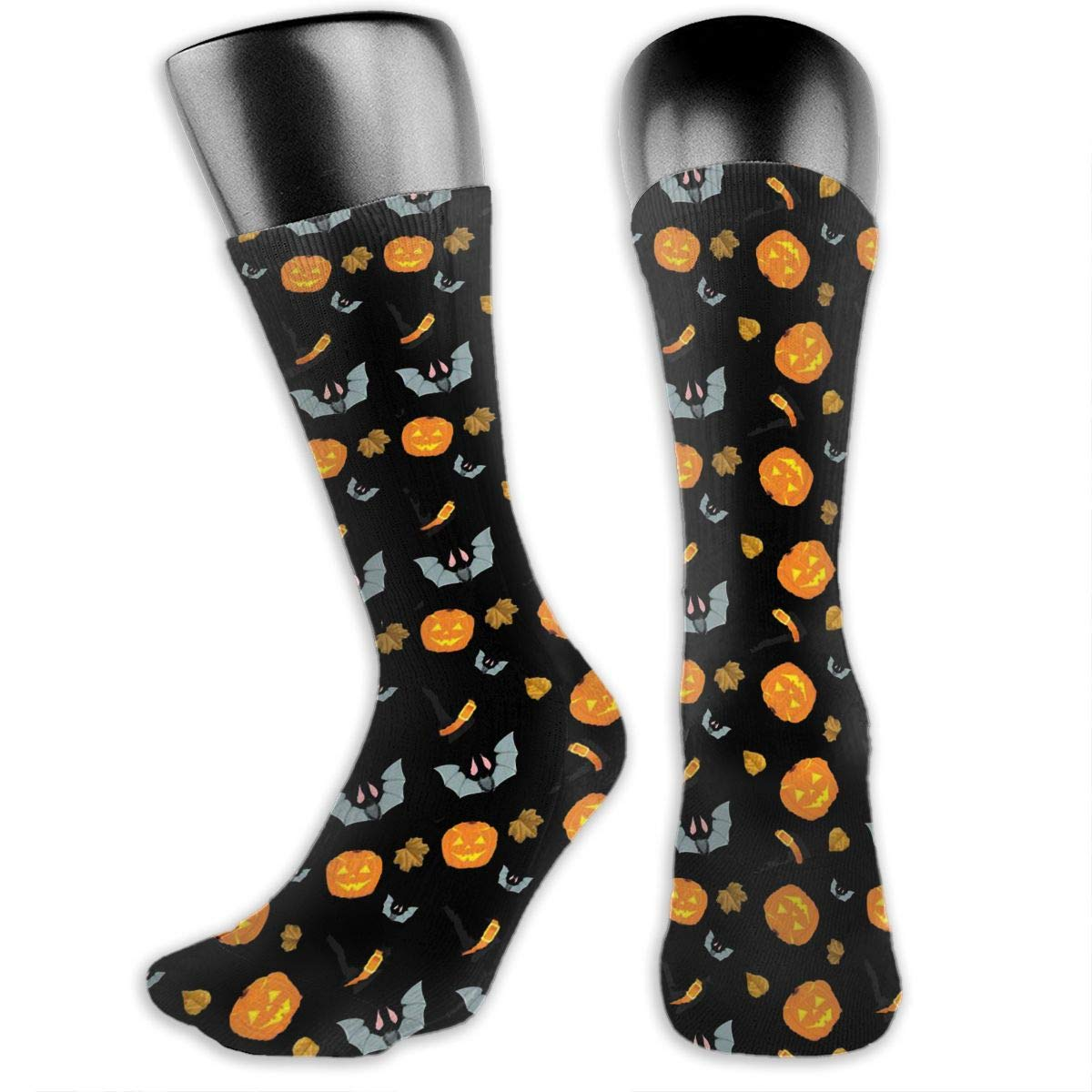 Heart Grey Yellow Cotton Casual Colorful Fun Below Knee High Athletic Socks