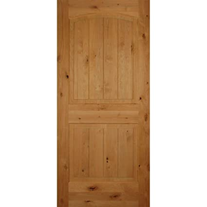 Ordinaire 2 Panel Arch Top Solid Core Knotty Alder Interior Door Slab