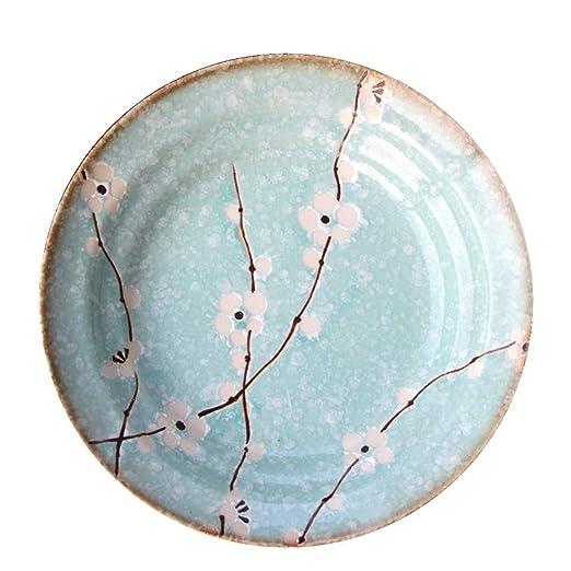 Plato de cerámica bandejas japonesas Cubiertos caseros de Postre ...