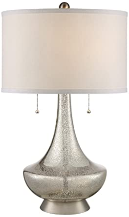 Possini Euro Trixie Mercury Glass Table Lamp Amazon Com