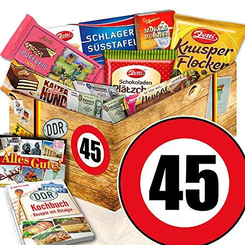 Geschenk 45. Geburtstag / Schoko DDR Box / 45 – Geburtstag Geschenke Frauen