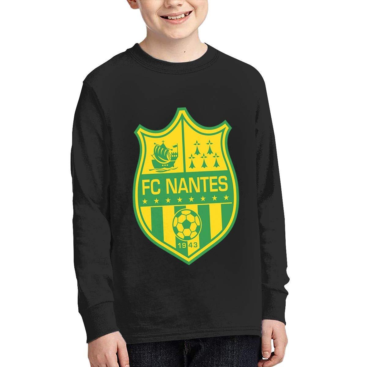 RyanCSchmitt FC Nantes Youth Boys Girls Crew Neck Long Sleeves T Shirt Fashion Youth Tee Shirts