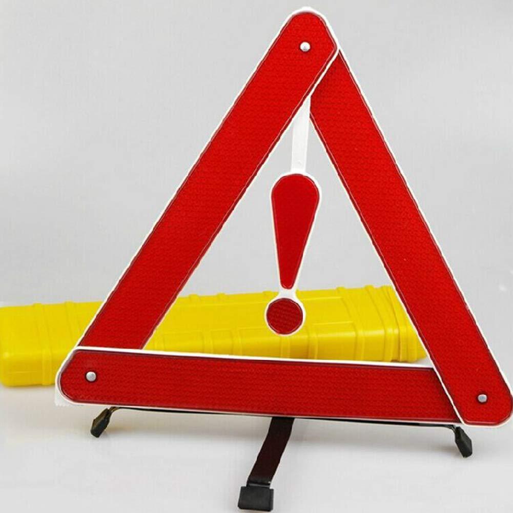 Romdink Dreieck Warnschild in hohem Grade reflektierender Sicherheits-tragbarer Notfall Reflektierende Auto-Versorgungsmaterialien rot