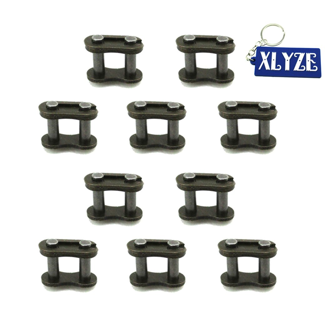 xlyze chaî ne de 25H de rechange pour Master Links 10pcs pour 2  temps Mini Moto Kids ATV Quad Dirt Pocket Bike e scooter Go Kart