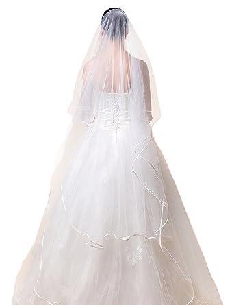 online retailer 52976 5c6ee Icegrey Braut Hochzeit Schleier Lang Kathedrale Hochzeit ...