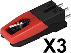 DIGITNOW! Vinyl Turntable Cartridge with Needle Stylus for Vintage LP for Record Player - 3 Pack