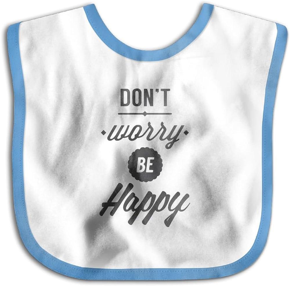 Marima Dont Worry Be Happy Personalized Scarf Bib Feeding /& Teething Fancy Baby Bibs and Burp Cloth