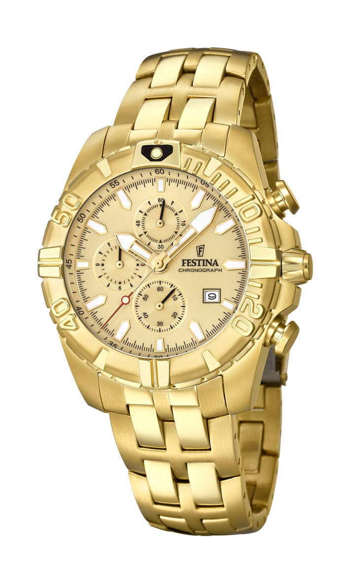 Men's Watch Festina - F20356/1 - Chronograph - Date - Gold-Plated