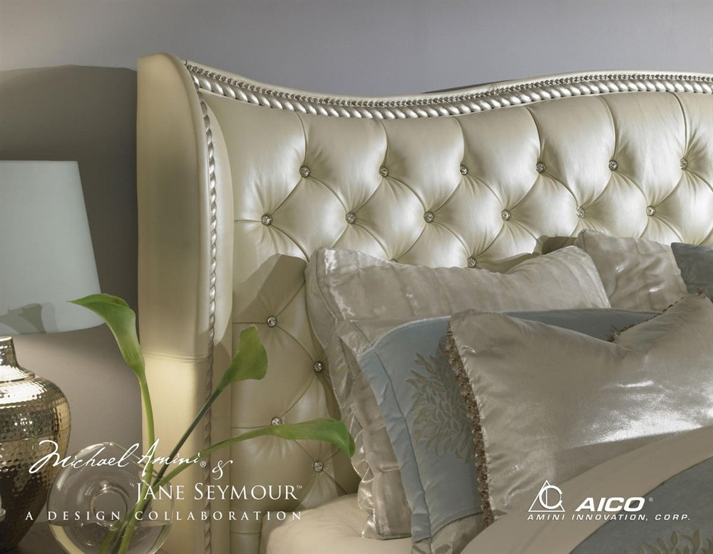 Merveilleux Amazon.com: Hollywood Swank California King Pearl Bedroom Set By Aico  Amini: Kitchen U0026 Dining