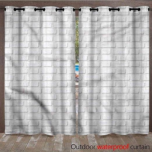 AndyTours Cortinas para Exteriores – Cortina de privacidad de Tela Resistente al Agua para Ventana de pergola/Patio/balcón – fácil de Colgar, 2 Paneles, Multi: Amazon.es: Jardín