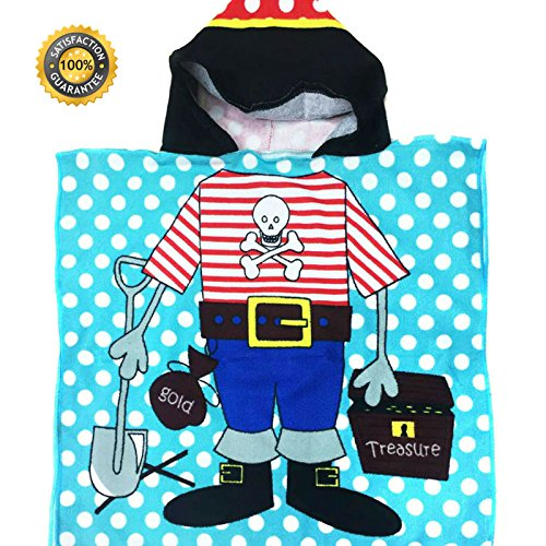 Hooded Pirate Beach Towel for Kids Beach and