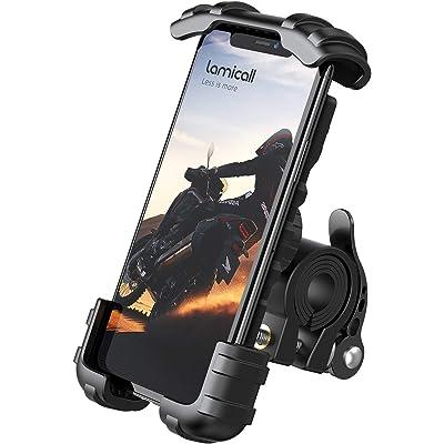 "Lamicall Soporte Movil Bicicleta, Soporte Motocicleta - Universal Rotación 360° Soporte Manillar para iPhone 11 Pro MAX, XS MAX, X, XR, 8, 7, 6S, Samsung S10 S9 S8 S7, Huawei, 4.7-6.8"" Smartphones"
