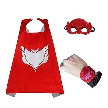 THEE 3pcs Capa Máscara y Pulsera Disfraces de Halloween para Niños y Niñas