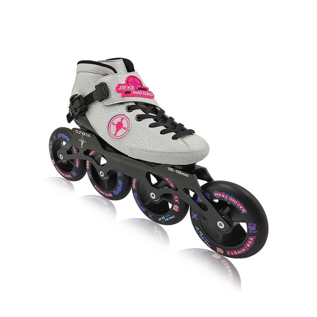 Ailj Inline Skates, Professionelles Hochelastisches PU4X100MM Verschleißrad Einreihige Schlittschuhe Für Kinder 3 Farben B07Q9LC9G1 Inline-Skates Charmantes Design