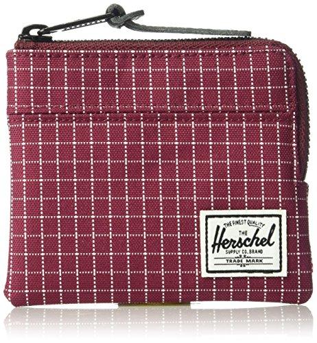 Herschel Supply Co  Mens Johnny Rfid  Windsor Wine Grid  One Size