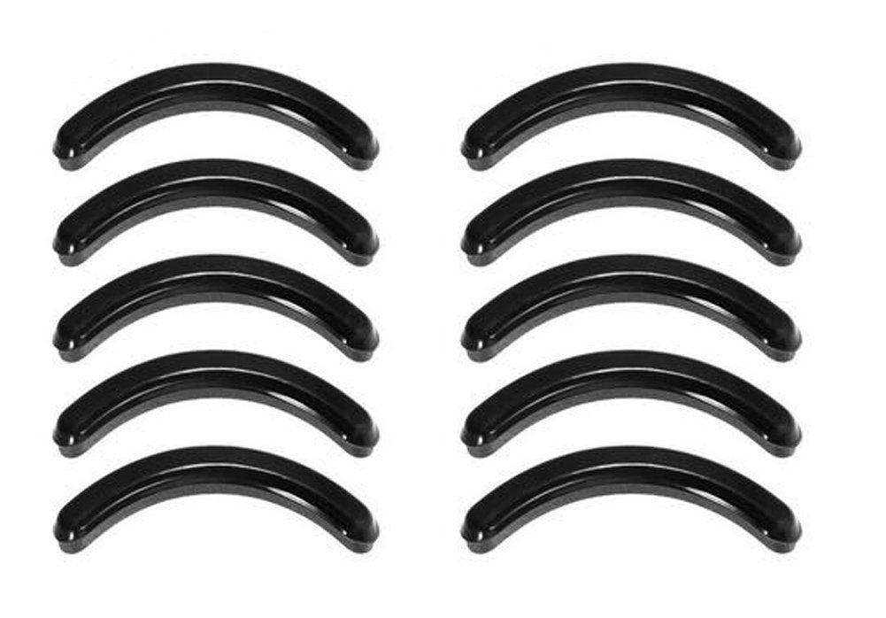 Packe de 10 negro silicona cojí n de repuesto recambios para rizador de pestañ as de goma rizador de pestañ as maquillaje herramienta para la mayorí a erioctry