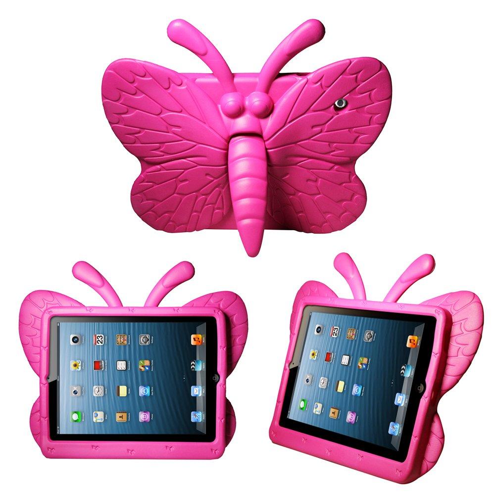 caseguru kids butterfly shock proof case for ipad 2 3 4 pink