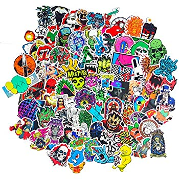 Dreamergo cool graffiti stickers 100 pieces various car motorcycle bicycle skateboard laptop luggage vinyl sticker graffiti laptop luggage decals bumper