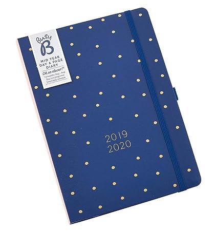 Agenda diario 2019-20 mediados de año Busy B - un día por página