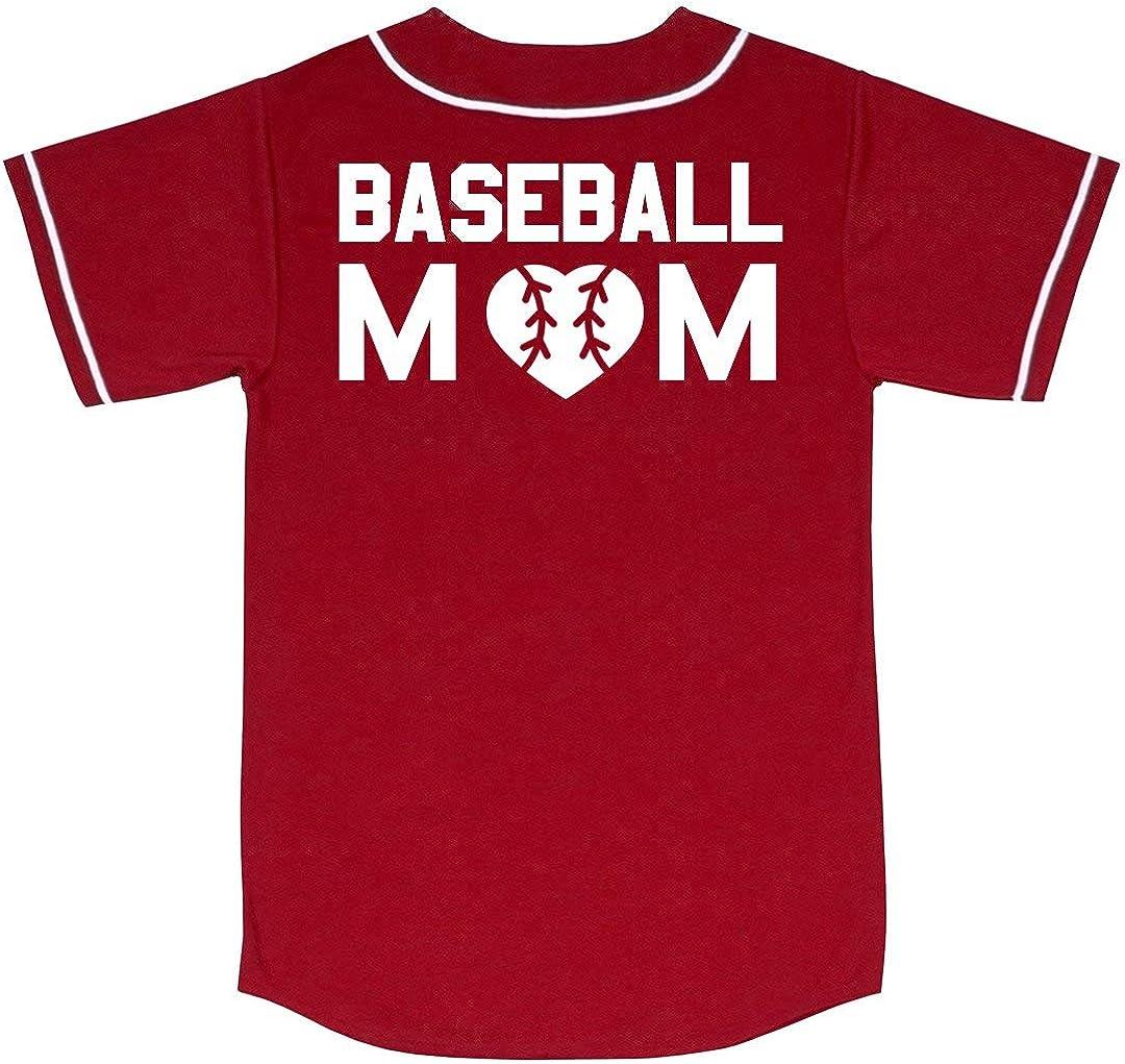 Customized Girl Fun Baseball Mom Jersey Unisex Augusta Mesh Baseball Jersey