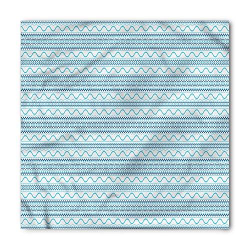 - Lunarable Unisex Bandana, Blue Tribal Ethnic Design Waves, Turquoise Navy