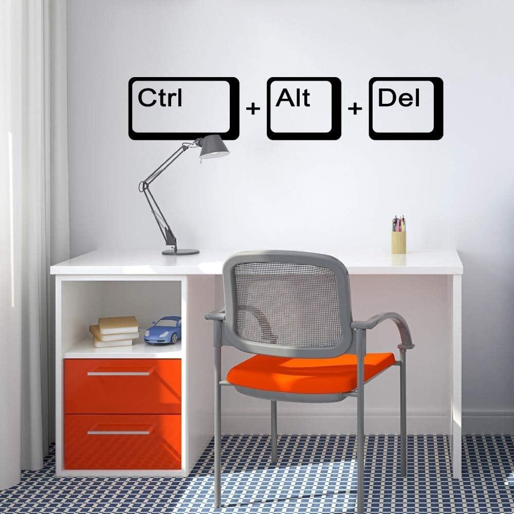 Ajcwhml Computer Freak Science Wall Decal School Kids Room Laptop Player Quote Wall Sticker Vinilo decoración para el hogar Mural: Amazon.es: Hogar