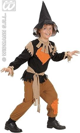 WIDMANN traje espantapájaros Niño 11/13, Naranja y Negro, 158 cm ...
