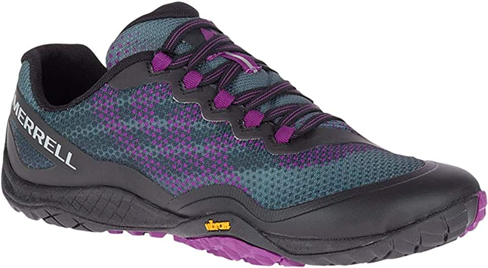 Amazon.com | Merrell Trail Glove 4 Shield Black/Purple 11 | Trail Running