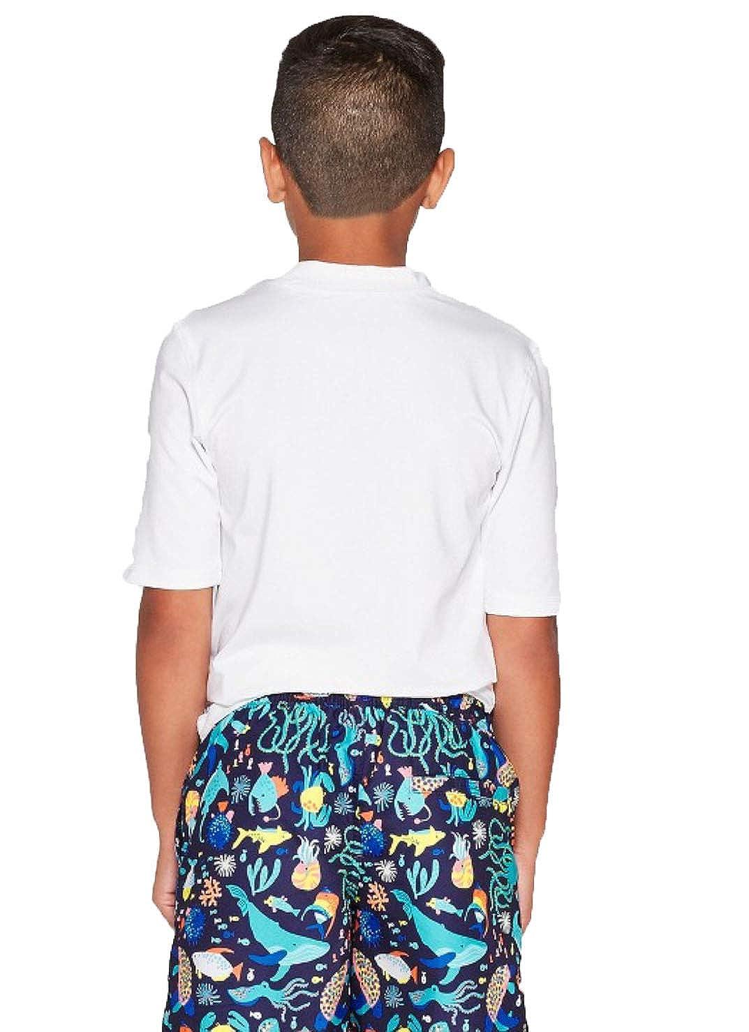 Cat /& Jack Boys Short Sleeve Rash Guard-Variety
