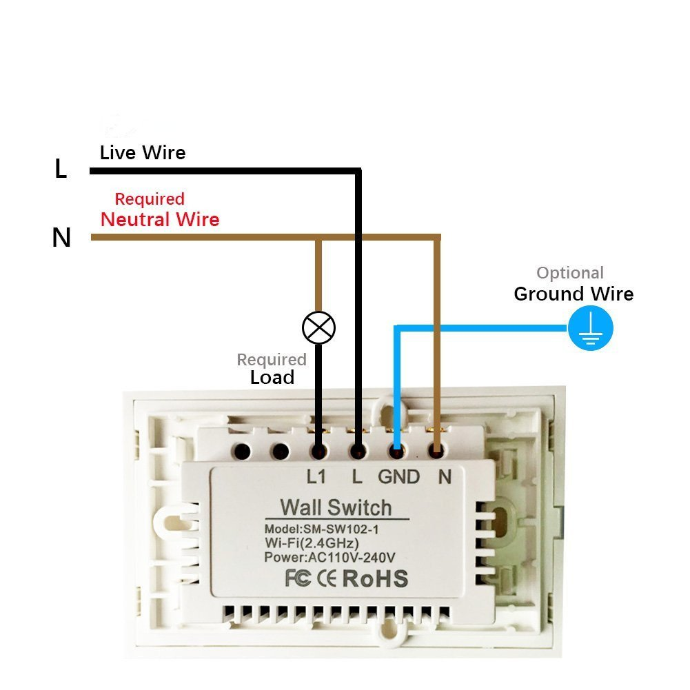 Smart Wifi Light Switch Compatible With Alexa Echo Boscheng Touch Ceiling Wall Remote Control No Wiring Needed Panel 110 240v Your Devices Phone From Anywhere 1