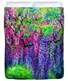 The Wind Whispers Wisteria - Duvet Cover, Queen