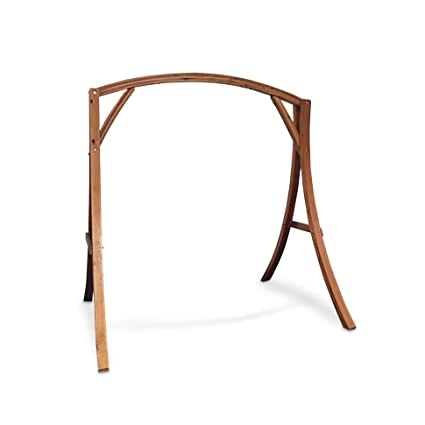Bon Wooden Arch Wooden Hammock Chair Swing Stand